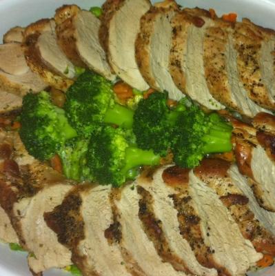 Fleischplatte mit Gemüse