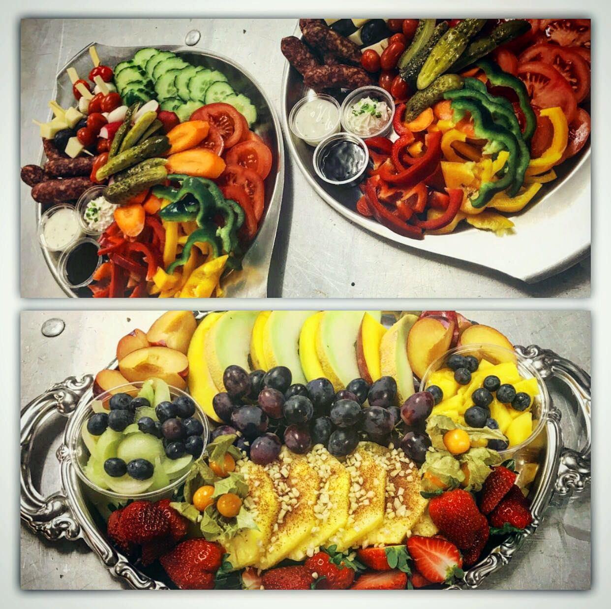 Obst- und Gemüseplatten